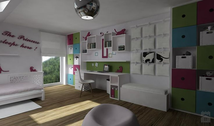 Pokój dziewczynki - Pokój dziecka - Styl Skandynawski - Space Project Erazmus
