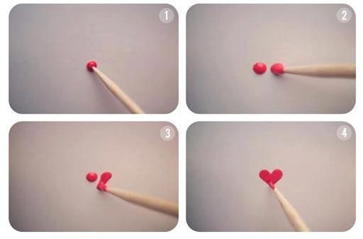 How to make a heart with nail polish
