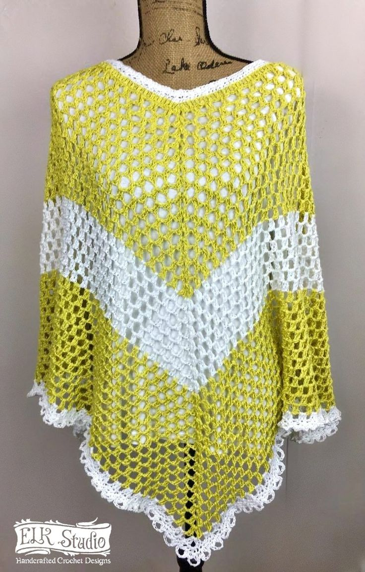 Southern Spring Fling Poncho- Part 1 - ELK Studio - Handcrafted Crochet Designs