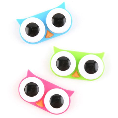 Owl Contact Lens Case  ♥  If i ever have to wear contacts, I want this!!!!!