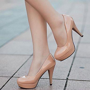 Pantofi pentru femei - Imitație de Piele - Toc Stiletto - Tocuri / Confortabili - Pantofi cu Toc - Rochie / Casual -Negru / Roșu / Alb / 4759947 2016 – $22.99