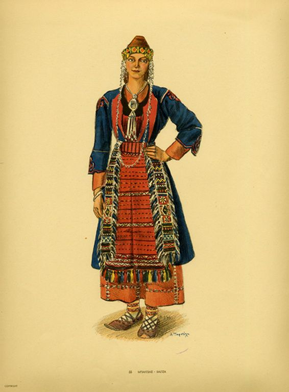 Φορεσιά Μπαλτσας. Costume from Baltza. Collection Peloponnesian Folklore Foundation, Nafplion. All rights reserved.