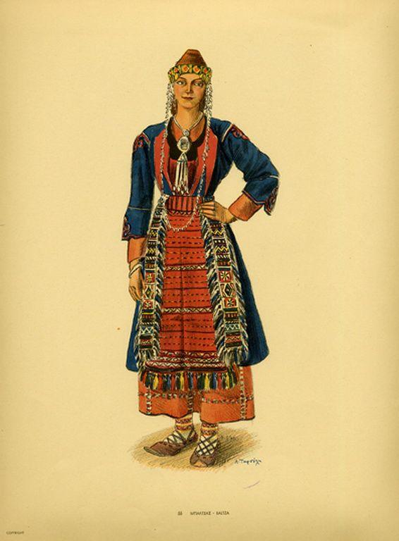 Φορεσιά Μπαλτσας. Costume from Baltza. Collection Peloponnesian Folklore Foundation, Nafplion. All rights reserved.