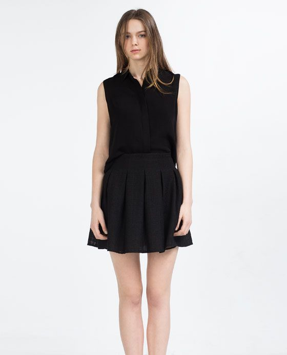 Image 1 of PLEATED SKIRT from Zara