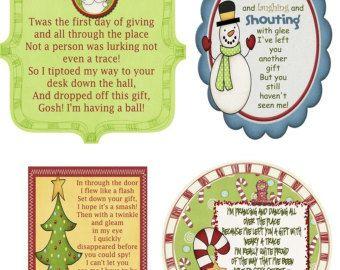 Secret Santa Gift Tag Poem by kate42876 on Etsy