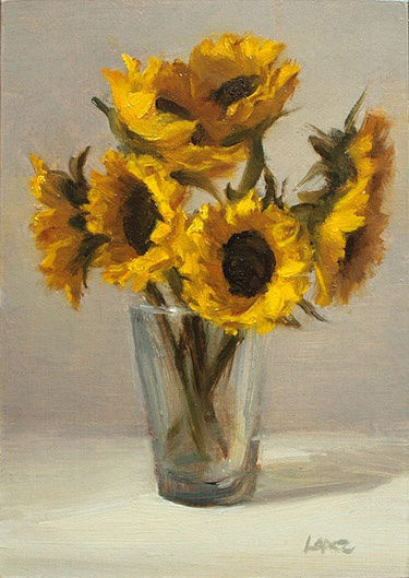 Leah Lopez :: Paintings :: Parade of Sunflowers