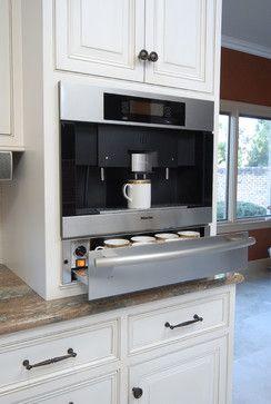 Built in coffee station.  Kitchen - traditional - kitchen - other metro - by Kitchens Unlimited- Karen Kassen, CMKBD