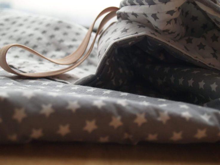 unisex baby play mat #cotton #handmade #babyshower #babyshowergift #newborn #newborngift #shinny #star #greystar #darkgrey #lightgrey