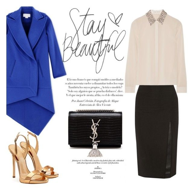 Stay beautiful by betti-nyilas on Polyvore featuring polyvore, fashion, style, Alice + Olivia, Antonio Berardi, Cushnie Et Ochs, Giuseppe Zanotti, Yves Saint Laurent, women's clothing, women's fashion, women, female, woman, misses and juniors
