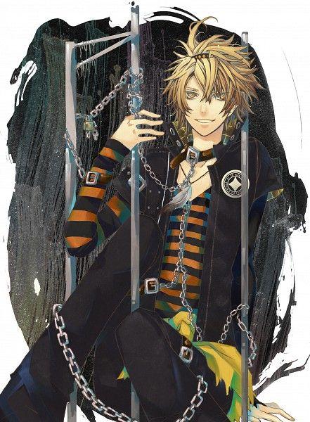 Tags: Anime, Chain, Striped Shirt, Yandere, AMNESIA, Toma (AMNESIA), Multiple Belts