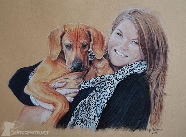 Kati & Keila, pastel, size A3