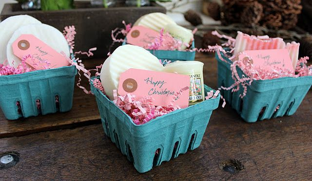 Love the berry baskets holiday inspiration pinterest for Homemade christmas gift baskets for couples