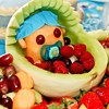 Baby fruit basket/platter.