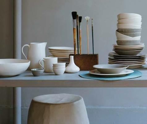 Shopper's Diary: Canvas Home Store Online : Remodelista  love a stack of beautiful dishes.