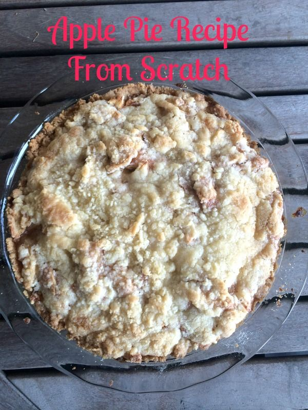 This Apple Pie Recipe from Scratch is so easy to make but it tastes like you spent the entire day in the kitchen! Why not whip it up today for your family?  You will all love it!