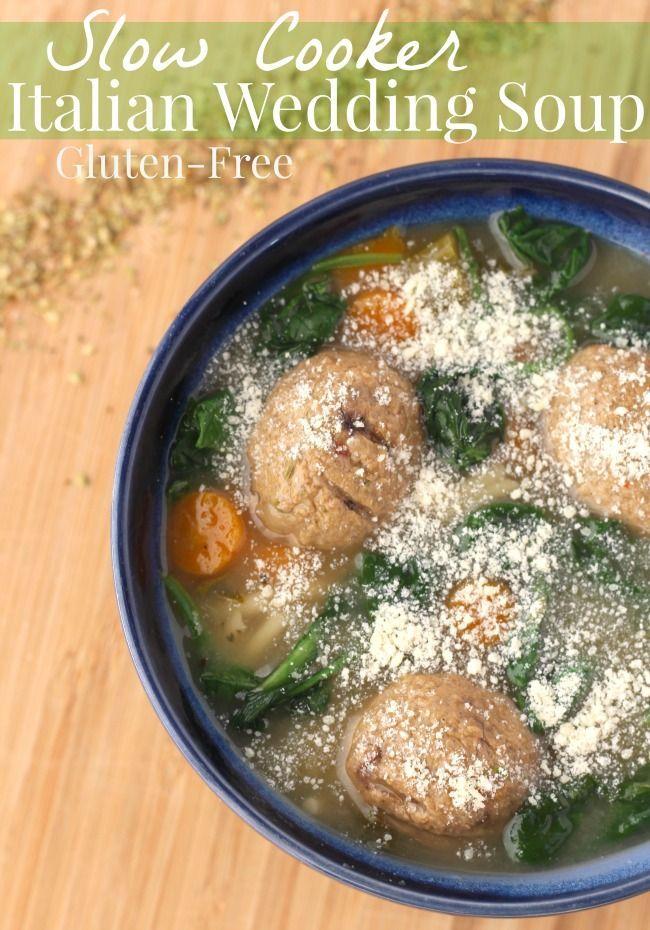 Gluten Free Crockpot Italian Wedding Soup