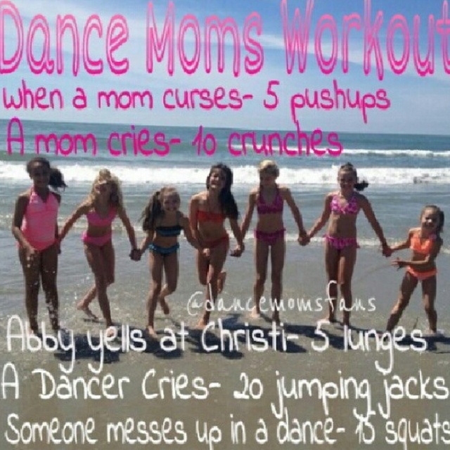 dance moms :) I might have to do this on tuesday!