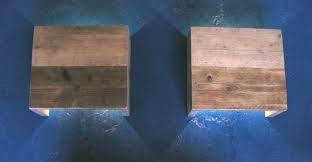 Afbeeldingsresultaat voor wandlamp hout