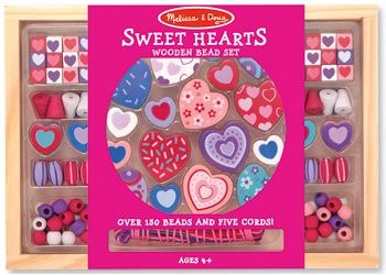 Melissa & Doug Heart Bead Set Design beautiful wooden jewellery to your heart's content, featuring lovely, heart-shaped beads. A variety of shaped beads, all in coordinating colours, will encourage young jewellery makers to create jewellery for every occasion. 5 colourful cords and over 150 hand-crafted wooden beads allow for endless combinations. $22 and in stock. For more information follow this link…