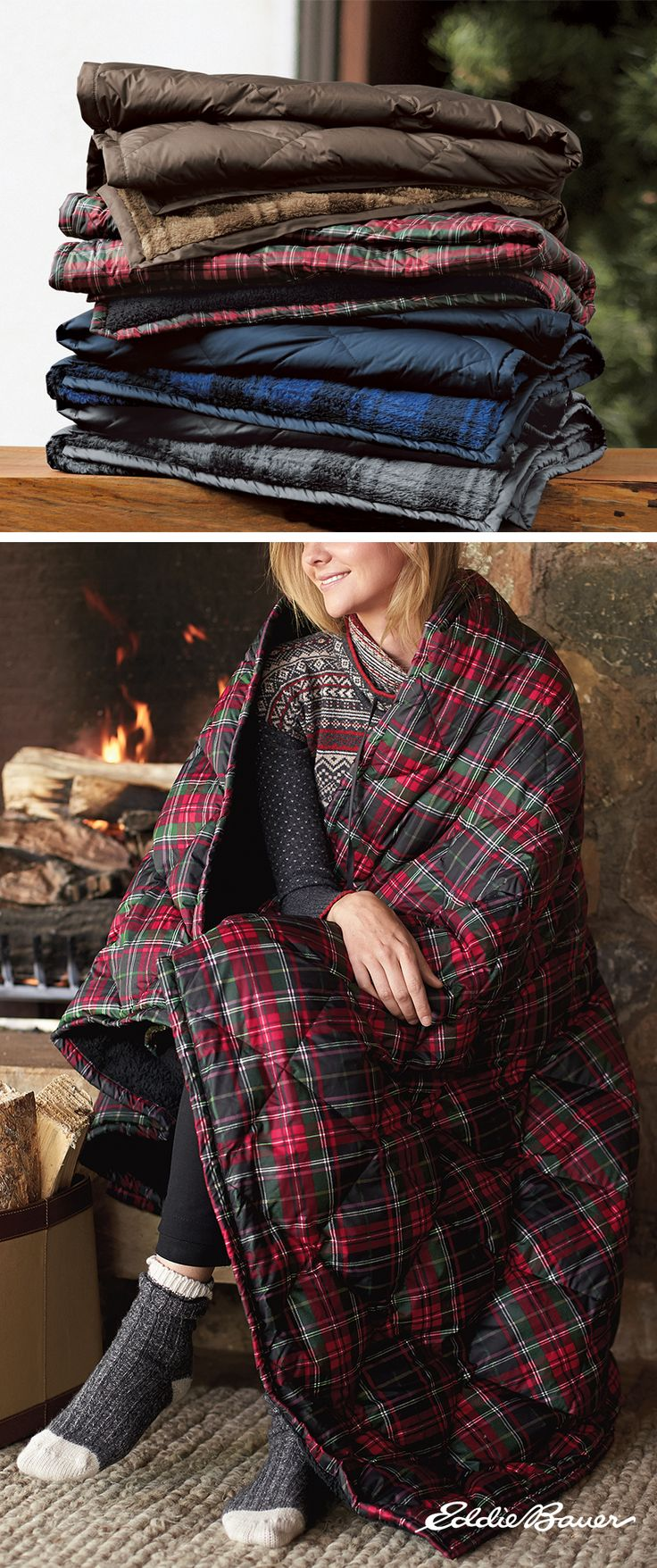 t's ultralight, and at the same time, ultrawarm. Insulated with 650 fill Premium Down, our throw is perfect for the living room, guest room, or anywhere else someone wants to relax after a day full of outdoor activities. Soft polyester shell is smooth on one side, fleece on the other. Comes gift-ready, rolled and tied with a ribbon.