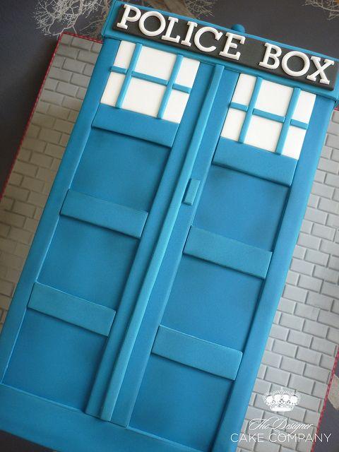 Dr Who Tardis cake by The Designer Cake Company, via Flickr
