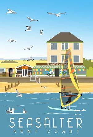 Seasalter Beach, Cafe and Waldens shop   whiteonesugar.co.uk