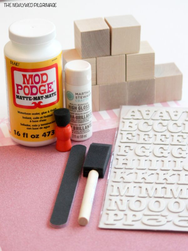Wooden Baby Blocks DIY Supplies