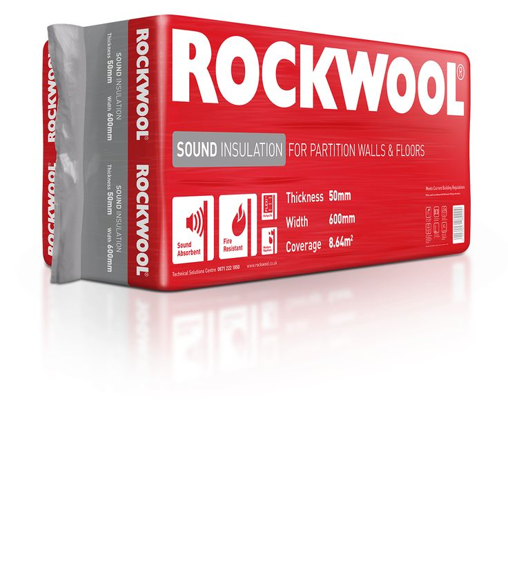 ROCKWOOL Sound insulation provides is highly sound absorbent due to the high density, non-directional fibres that trap sound waves and absorb vibration. Being made from stone also means great fire performance.