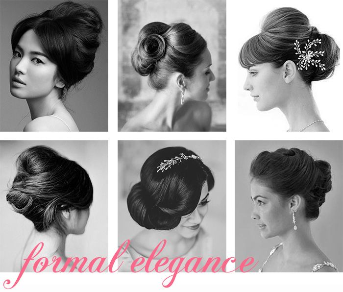I like the one's on the left! :)  60 Wedding Updos | Snippet & Ink - What Type Are You...vintage glamour, formal elegance, loose curls, classic twist, ponytail, roll, knot, retro, braid...
