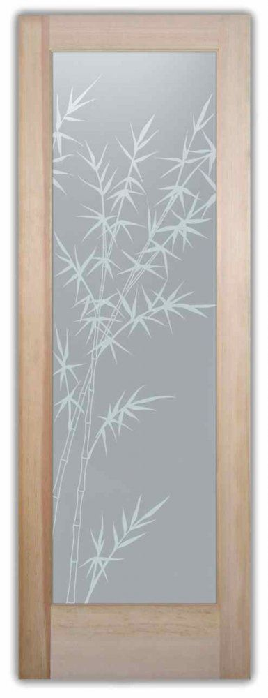 Privacy Glass Doors Inserts  Frosted Glass Bamboo Etched Doors