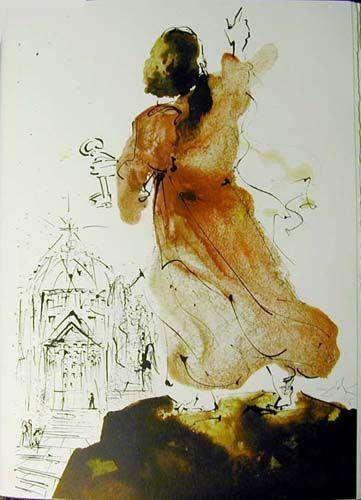 """Tu est Petrus (Mathew 16: 15f)"", gouache von Salvador Dali (1904-1989, Spain)"