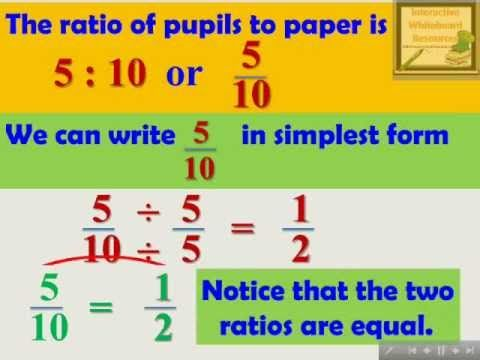 Ratio and Proportion - Interactive Mathematics Lesson Module
