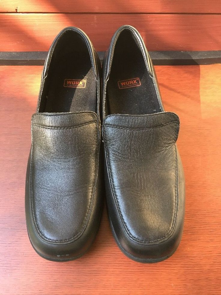 WORX by Red Wing Shoes 6100 Leather Upper Penny Loafers Size 10 Oil Slip Resist  | eBay