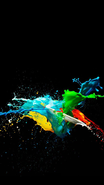 Splash of paint colors. Foto papel de parede, Papeis de
