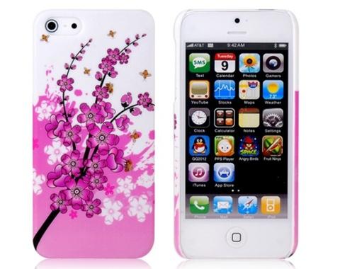iPhone 5 için renkli çiçekli koruyucu çok şık bir kapak.
