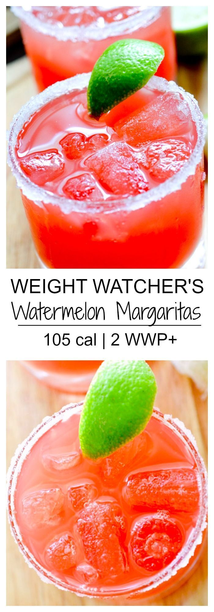 You can definitely have a drink and stay on track with this Watermelon Margarita!