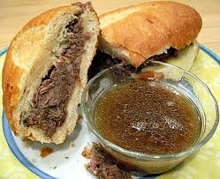 This is the best ever Beef Dip Sandwich  Ingredients  3 pounds round tip roast  1 tablespoon cracked black peppercorns  3 cloves garlic, minced  3 tablespoons balsamic vinegar  1/4 cup soy sauce  2 tablespoons Worcestershire sauce  2 teaspoons dry mustard  Directions  Rub the cracked pepper and garlic into the roast.  Place the roast in the Crock-Pot® Slow Cooker and make several shallow slits in the top of the roast.  In a small bowl, combine the remaining ingredients and pour over the…