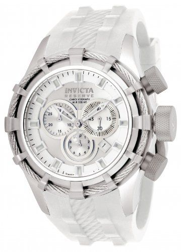 Invicta 1376 Men's Reserve Bolt Swiss Made White Rubber Strap Chronograph Watch Invicta. $349.99. Chronograph. Swiss Made. Big Dial. Save 65%!