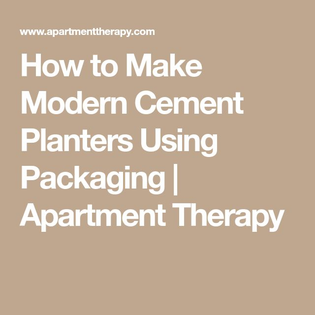 how to make cement trough planters