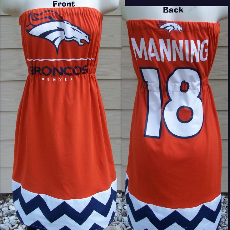 Denver Broncos Game Day Dress-Wonder if mom could do something similar and add straps!