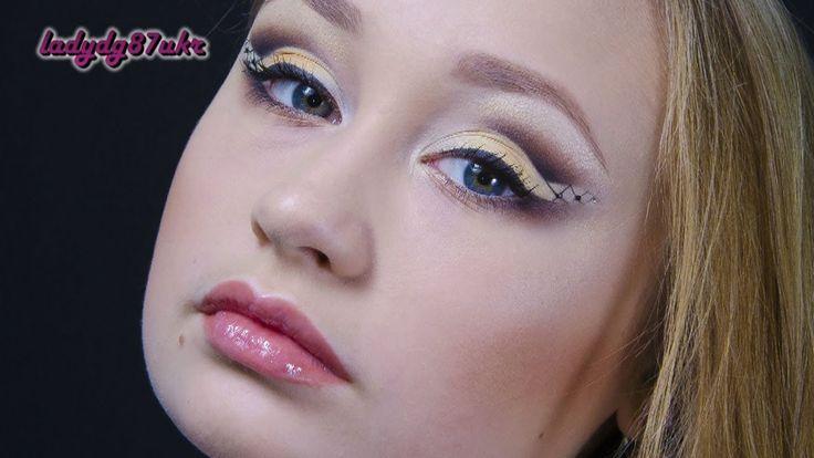 """Желто-коричневый макияж на основе формы """"банан"""""""