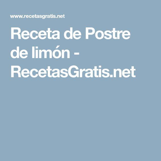Receta de Postre de limón - RecetasGratis.net