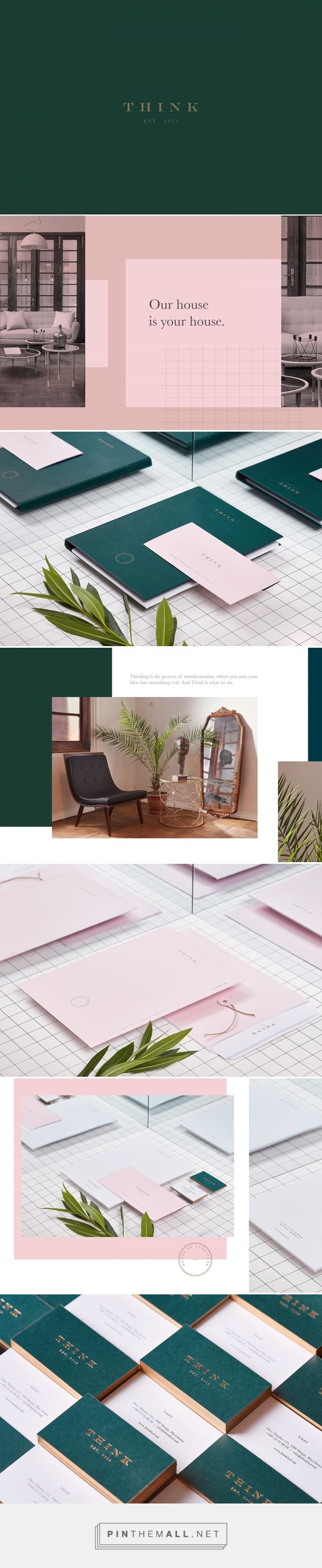 Think House of Furniture Branding by Miki Stefanoski  | Fivestar Branding Agency – Design and Branding Agency & Curated Inspiration Gallery