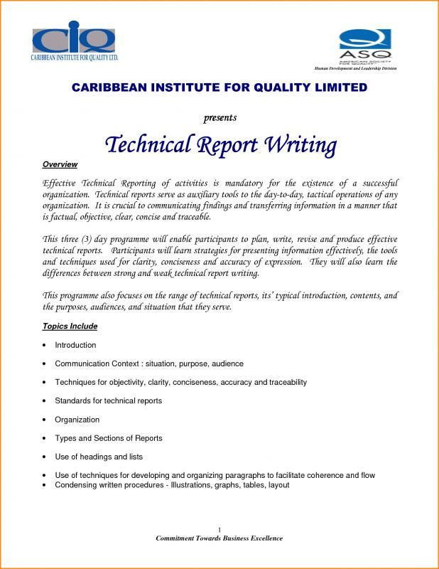 Technical Report Template template Report template, Templates
