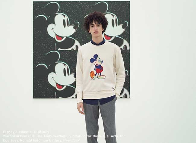 UNIQLO x Andy Warhol x Disney Mickey Mouse T-Shirt White Graphic 100/% AUTHENTIC