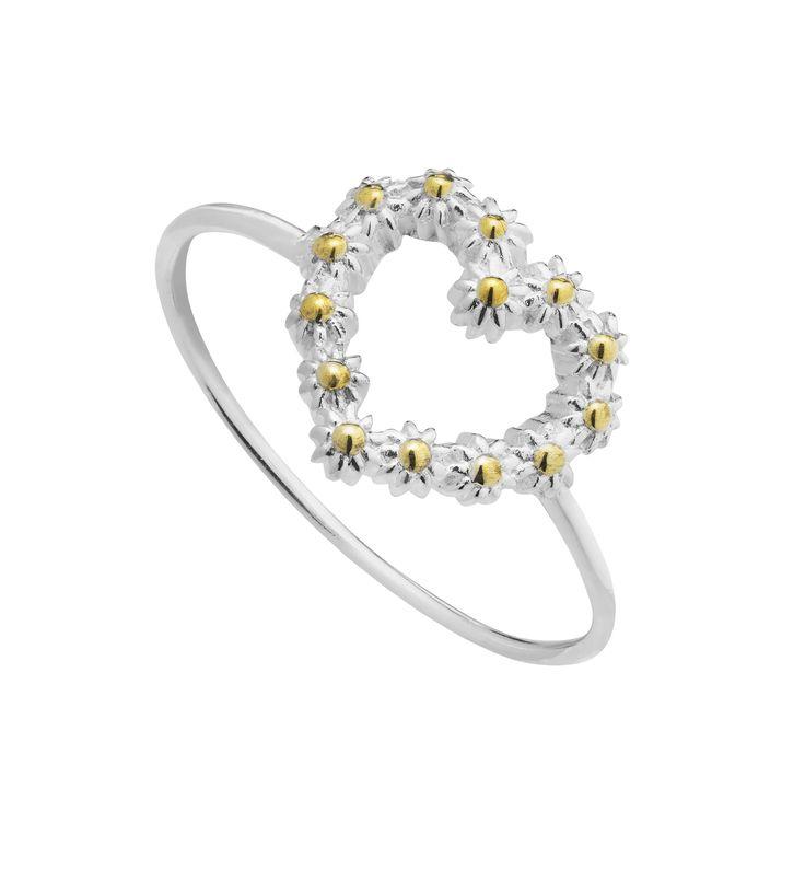 11mm Iota heart ring - SR614 - L - Daisy London - Ladies Jewellery #heart #wedding #flowergirl #penmans