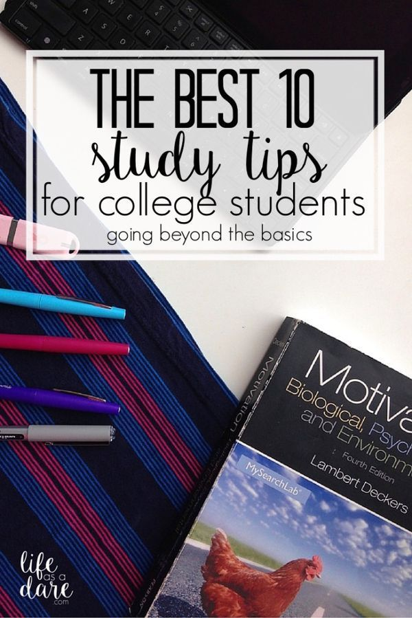 Every college student needs to read this! Here are 10 of the best study tips to help you ace any exam! Great tips!