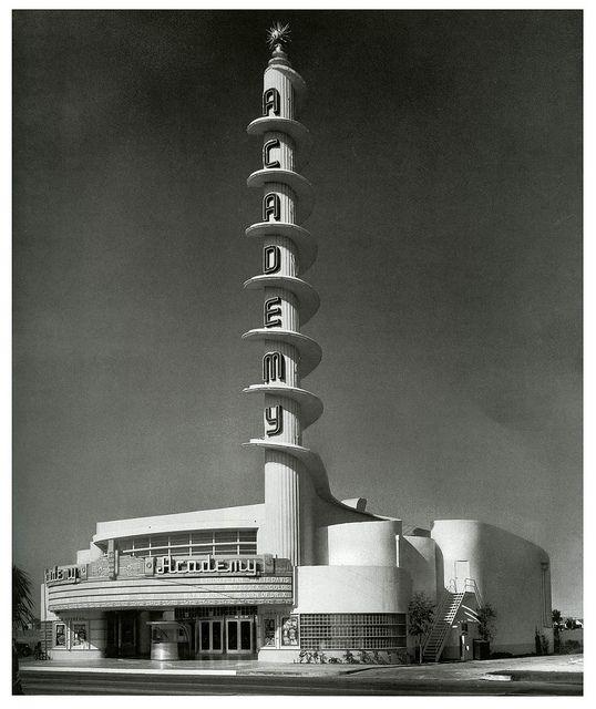 Art Deco Academy Theatre, Inglewood, California. @designerwallace
