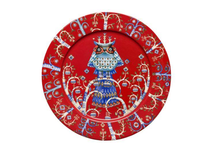 Taika Plate 27 cm red Klaus Haapaniemi