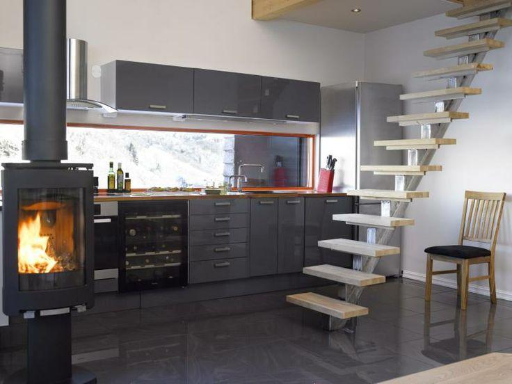 Velutstyrt: kjøkkenet på denne hytta er nesten bedre utstyrt enn ...